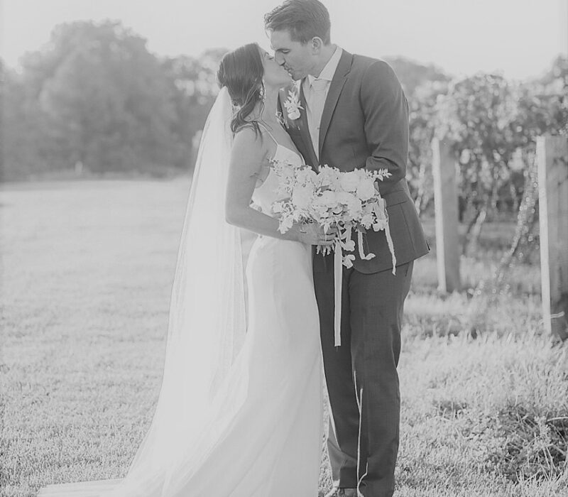 mono wedding photo
